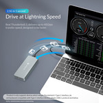 Thunderbolt 3 ™ NVME M.2 SSD-Gehäuse - 40 Gbit / s - USB-C - Sky Grey