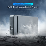 Thunderbolt 3 ™ NVME M.2 SSD Enclosure - USB-C - 40Gbps - Sky Gray
