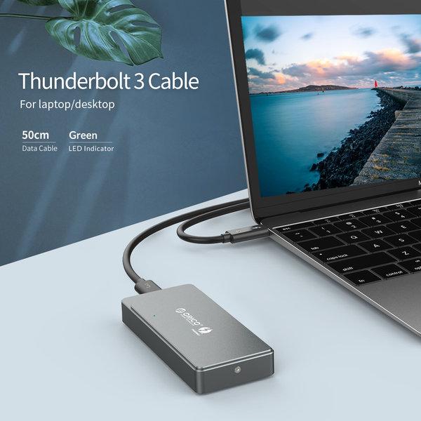 Thunderbolt 3 ™ NVME M.2 SSD-Gehäuse - USB-C - 40 Gbit / s - Sky Grey