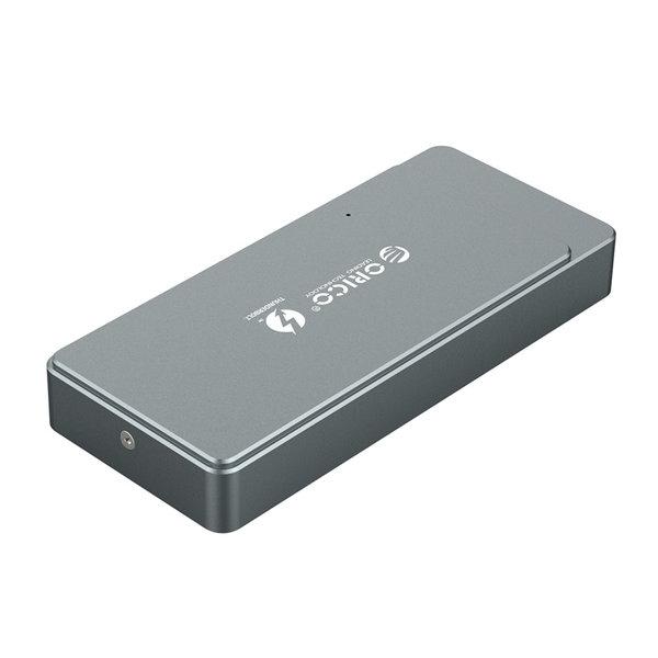 Thunderbolt™ 3 NVME M.2 SSD behuizing - USB-C - 40Gbps - Sky Grey