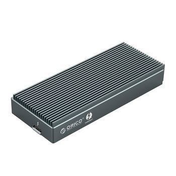Boîtier en aluminium SSD Thunderbolt ™ 3 NVMe M.2 - 40 Gbit / s - Gris ciel