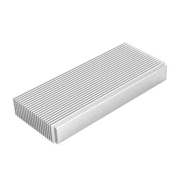 Boîtier en aluminium SSD Thunderbolt ™ 3 NVMe M.2 - 40 Gbit / s - Design unique - Argent