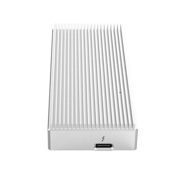 Thunderbolt 3 NVME M.2 SSD aluminium behuizing –  Zilver