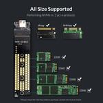 NVME M.2 SSD behuizing – USB-C 3.1 - 10Gbps - Sky Grey