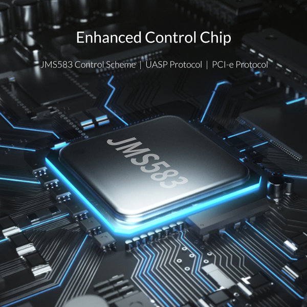 Boîtier SSD NVME M.2 - USB-C 3.1 - 10Gbps - Gris ciel