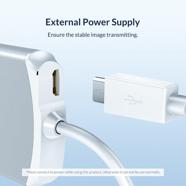 Orico Adaptateur HDMI en aluminium pour iPhone et iPad - 1080P @ 60Hz - argent