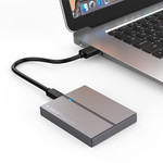 high-speed portable SSD - NAND flash - 128GB - Sky gray