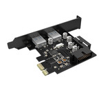 PCIe card - 2x USB 3.0 - 5Gbps SuperSpeed - Black