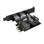 PCIe kaart - 2x USB 3.0 - 5Gbps SuperSpeed - Zwart