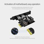 Carte PCIe - 2x USB 3.0 - SuperSpeed 5Gbps - Noir