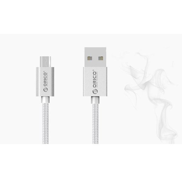 Micro-USB charging and data cable for smartphone and tablet - 3A - silver - 1M