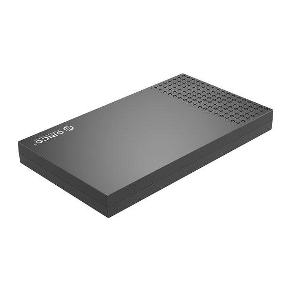 Boîtier de disque dur USB-C 2,5 pouces - Cache coulissant - Noir