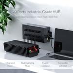 Orico Stalen industriële hub met 20 USB-poorten - 150W - opladen en dataoverdracht - zwart