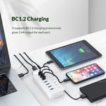 Hub USB 3.0 à 7 ports - BC 1.2 - interrupteurs marche / arrêt - 24W - blanc