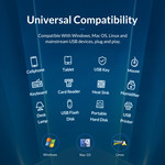 USB 3.0 Hub mit 13 Anschlüssen - Aluminium und transparentes Design - BC 1.2 - 60W - grau