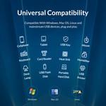 USB 3.0 hub met 16 poorten - aluminium en transparant design - BC 1.2 –  78W - grijs