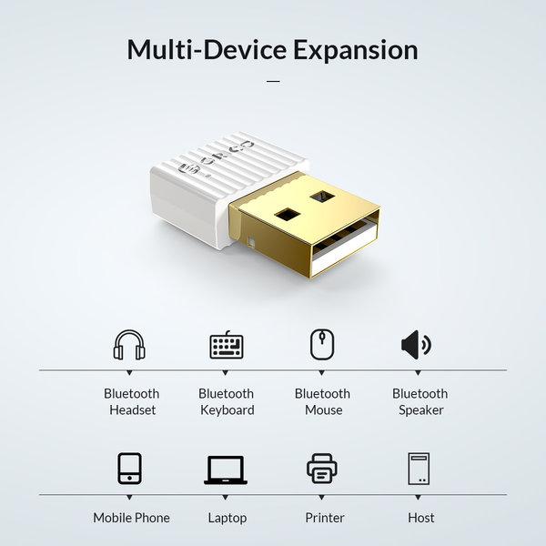 Bluetooth 5.0 + BR / + EDR-Adapter - 20M Reichweite - Schwarz