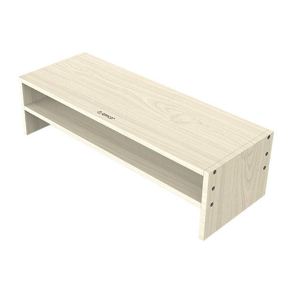Monitorstandaard van hout - 20x50cm - Ergonomische houding - tot 20kg