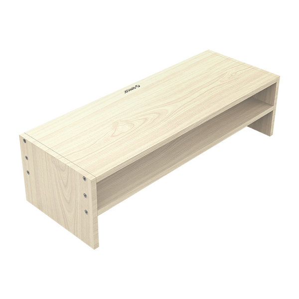 Wooden monitor stand - 20x50cm - Ergonomic posture - up to 20kg