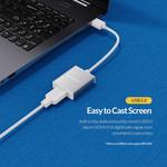Aluminum USB 3.0 Male to HDMI Female Adapter - Silver