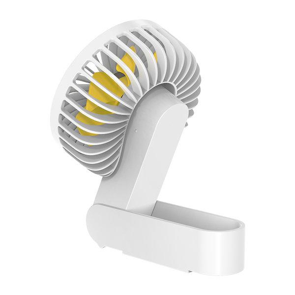 Wiederaufladbarer und faltbarer Lüfter - 3 Modi - 2000mAh - Weiß