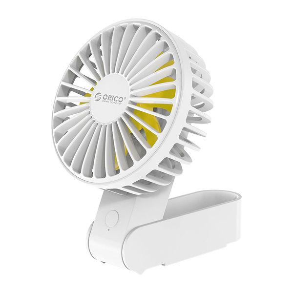 Oplaadbare en opvouwbare ventilator - 3 standen - 2000mAh -  wit
