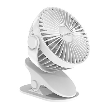 USB fan with clip-on system - 1200mAh - white