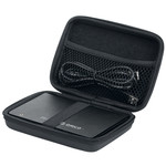 Protective case for portable 2.5 inch hard drive - black