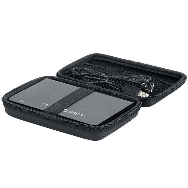 Beschermhoes voor draagbare 2.5 inch harde schijf - zwart