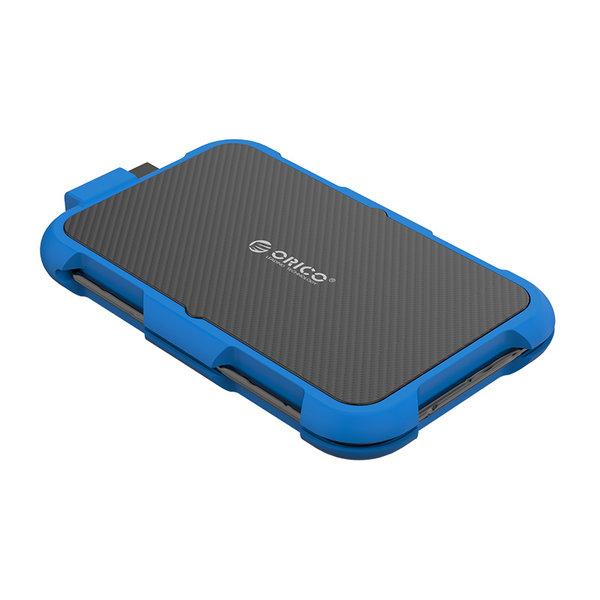 2.5 inch harde schijf behuizing - drievoudige bescherming - blauw