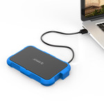2.5 inch hard drive enclosure - triple protection - blue