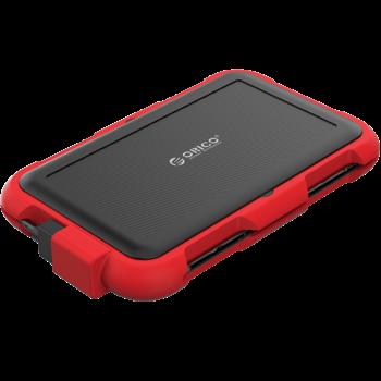 Boîtier disque dur 2,5 pouces - triple protection - rouge