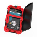 2,5-Zoll-Festplattengehäuse - dreifacher Schutz - rot