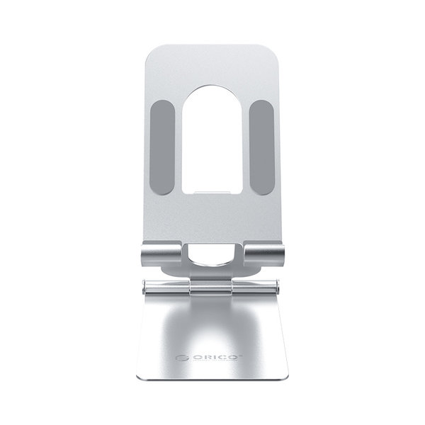 Handyhalter - klappbarer Handyständer - silber
