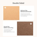 Durable cork mouse pad - 30x60cm - can be used on both sides