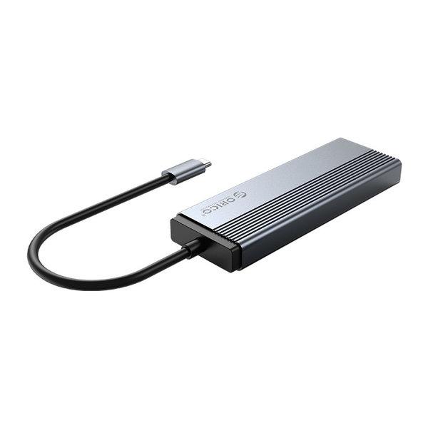 5-in-1 USB-C Hub - 4x USB 3.0 - 1x USB-C Power Delivery - Gray