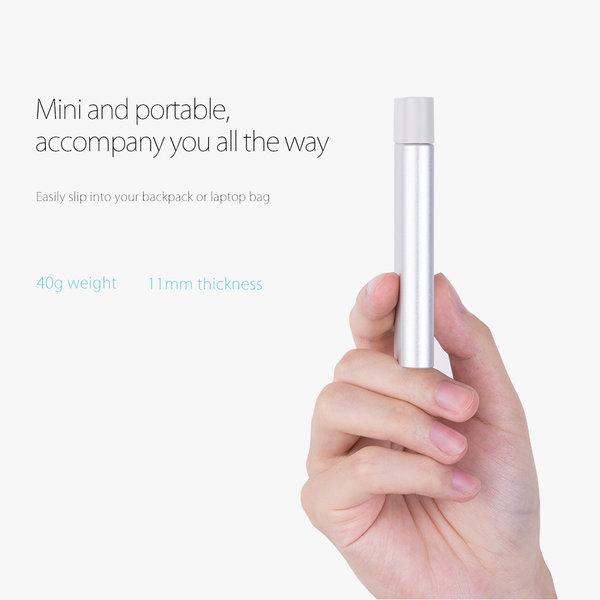 Aluminium-mSATA-Gehäuse - USB 3.0 - silber