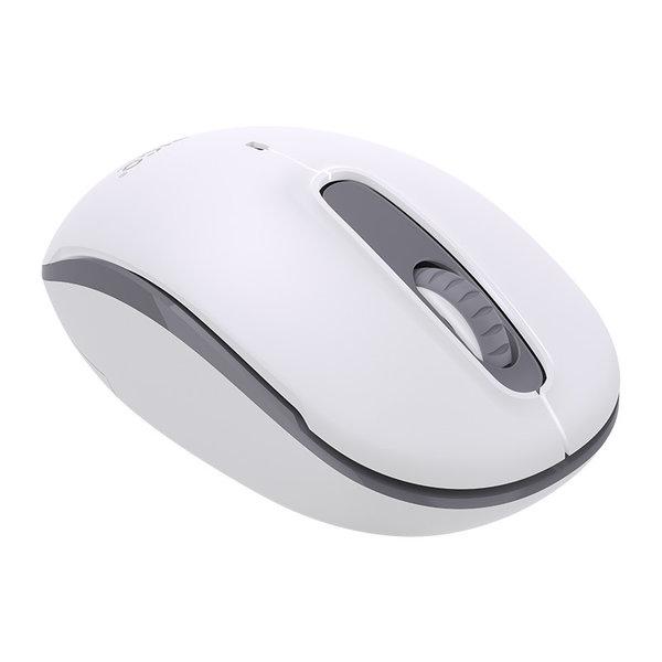 Kabellose Maus mit leisem Klicken - 2,4 GHz - inkl. Empfänger - 2 Mbit/s - weiß