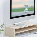 Monitorständer aus Holz - 20x50cm - Ergonomische Körperhaltung - bis 20kg