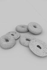 3D model sesame seed bagel