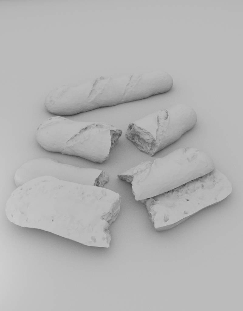 3D model baguette