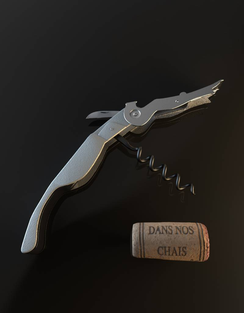 3D model corkscrew