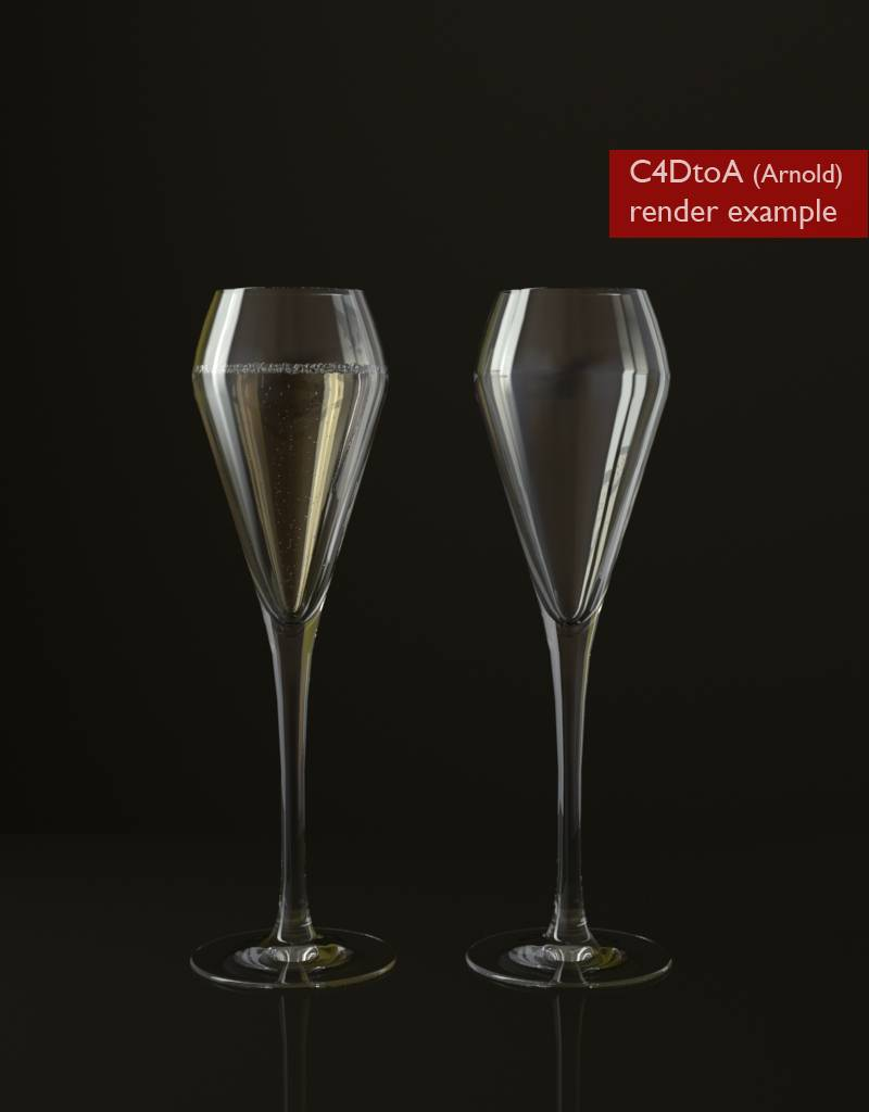 FREE 3D model champagne glass