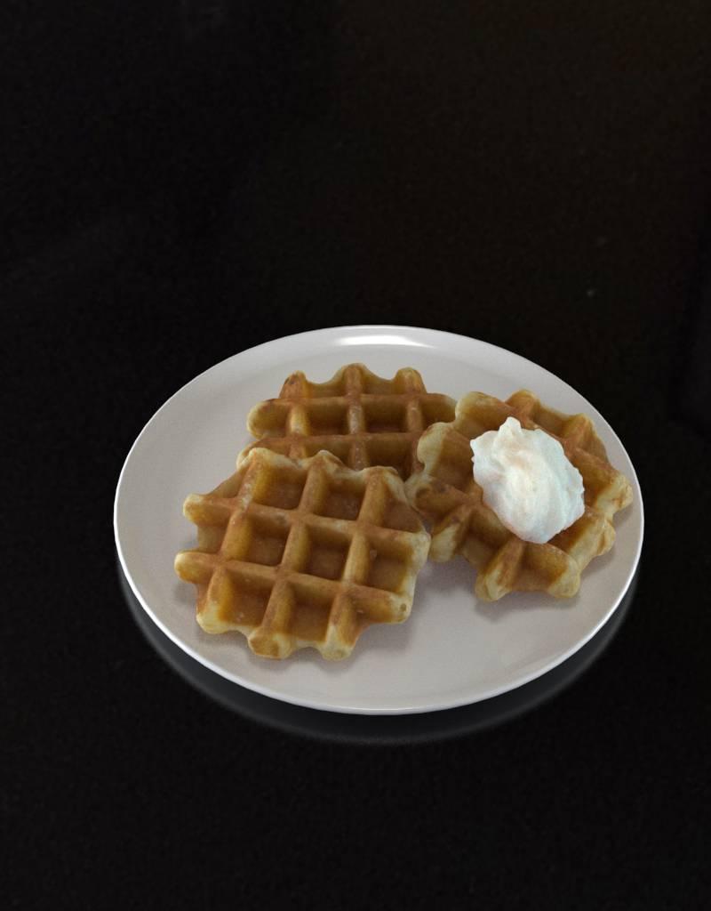 3D model Belgian Waffle