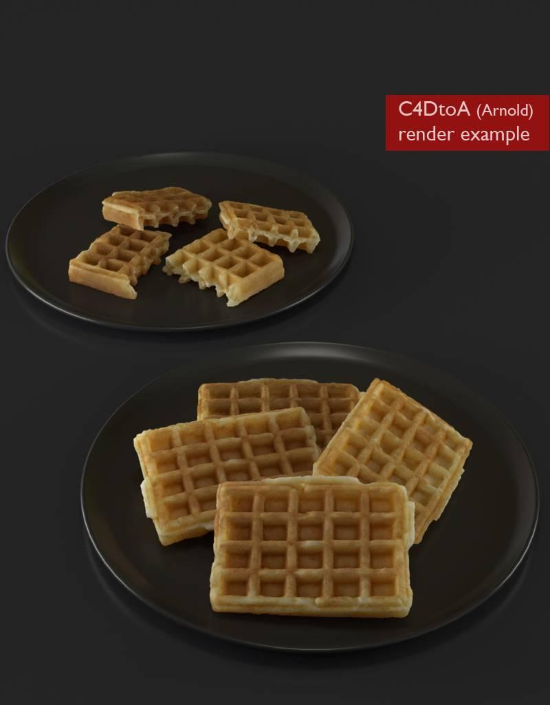 3D model Waffle