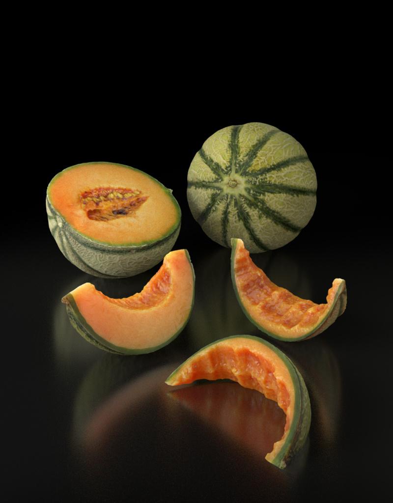 3D model Cantaloupe Melon