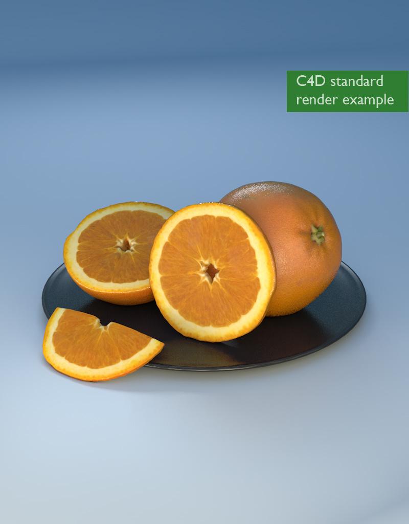 3D model orange