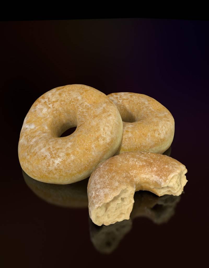 3D model sugar coated donut