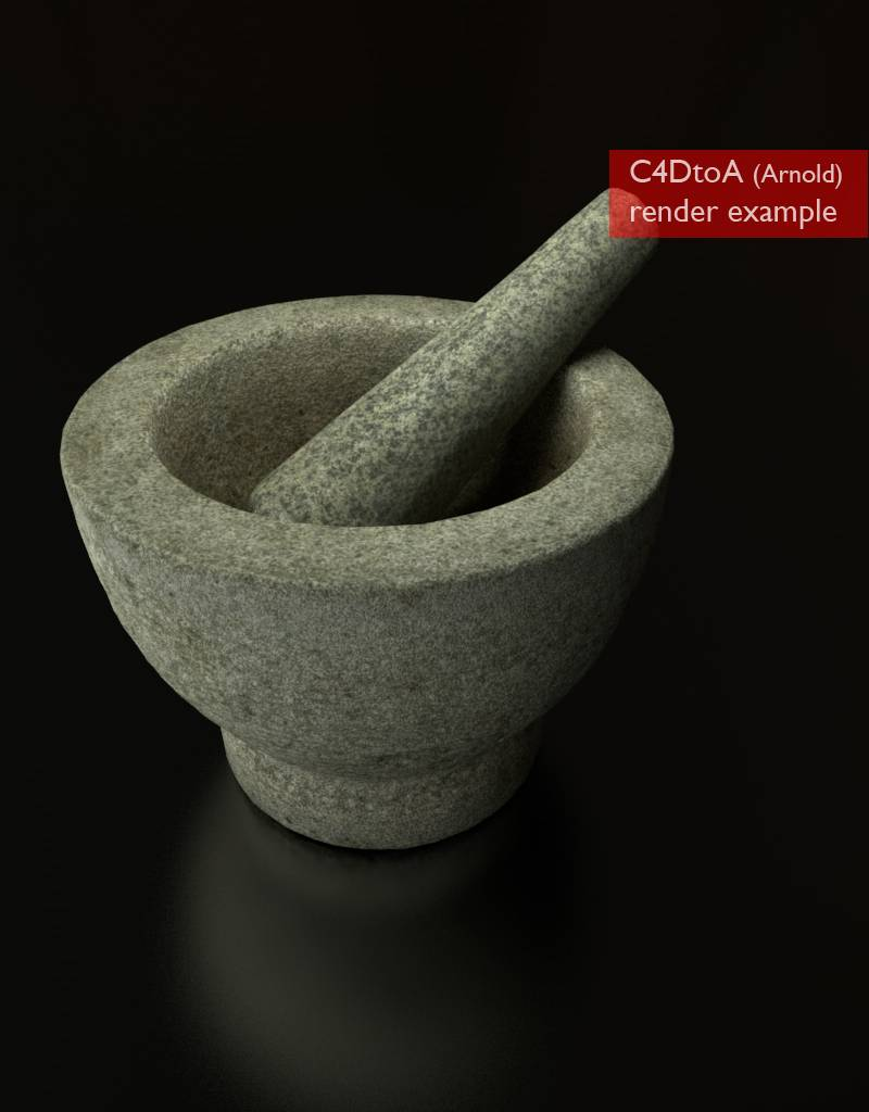 3D model mortar and pestle