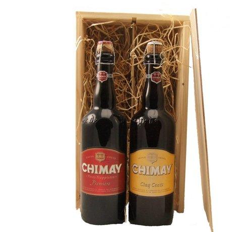 Bierkist Chimay Premiere & Cinq Cents